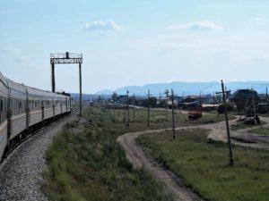 El tren avanza hacia Mongolia./ Foto J.M.