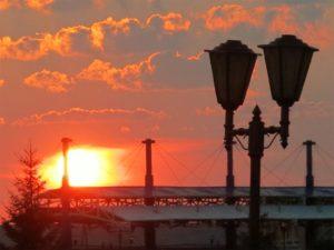 Puesta de sol en algún lugar de Sibeia./ Foto J.M.