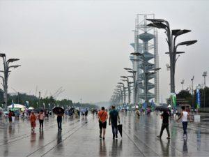 Paseo por la ciudad olímpica de Pekín./ Foto J.M.