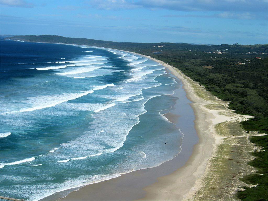 La imagen, una playa australiana en las inmediaciones de Hervey Bay./ Foto Joaquín Mayordomo.