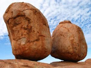 Devil s marbles ouback Australia
