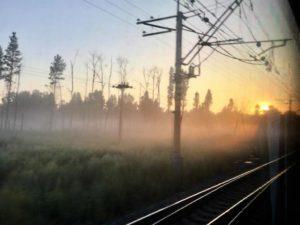 Camino de Irkutsk, al amanecer./ Foto J.M.