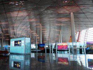 Bóveda del aeropuerto de Beijing./ Foto Joaquín Mayordomo