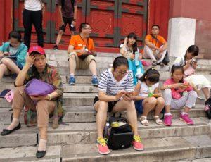 Atrapados ya en el futuro, ¿qué hacer con la realidad? Instantánea tomada en la Ciudad Prohibida (Pekin)./ Foto J. Mayordomo